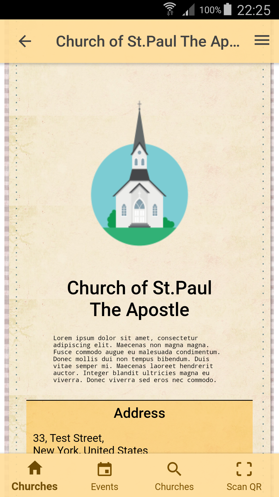 Page of one church